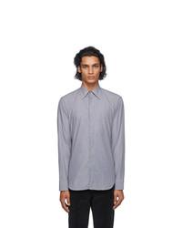 Maison Margiela Black And Grey Microstripe Shirt
