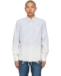 Amiri Blue Bleach Oxford Shirt
