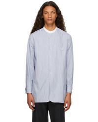 Maison Margiela Blue Cotton Striped Shirt