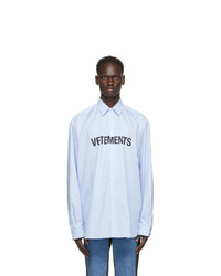 Vetements Blue Front Logo Shirt