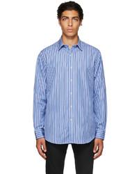 Polo Ralph Lauren Blue Navy Striped Poplin Shirt