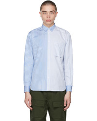 MAISON KITSUNÉ Blue Stripe One Pocket Regular Shirt