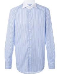 Canali Triple Pinstripe Button Down Shirt