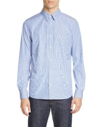 A.P.C. Chemise Hector Stripe Poplin Button Up Shirt