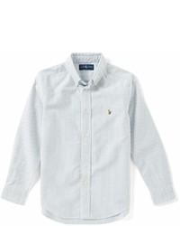 Ralph Lauren Childrenswear Little Boys 2t 7 Striped Long Sleeve Oxford Shirt