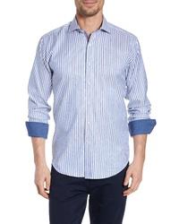 Bugatchi Classic Fit Stripe Sport Shirt