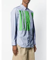 Comme Des Garcons SHIRT Comme Des Garons Shirt Contrast Panel Striped Shirt