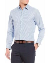 Hart Schaffner Marx Dobby Stripe Long Sleeve Sportshirt