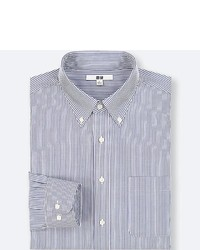 Uniqlo Easy Care Striped Regular Fit Long Sleeve Shirt