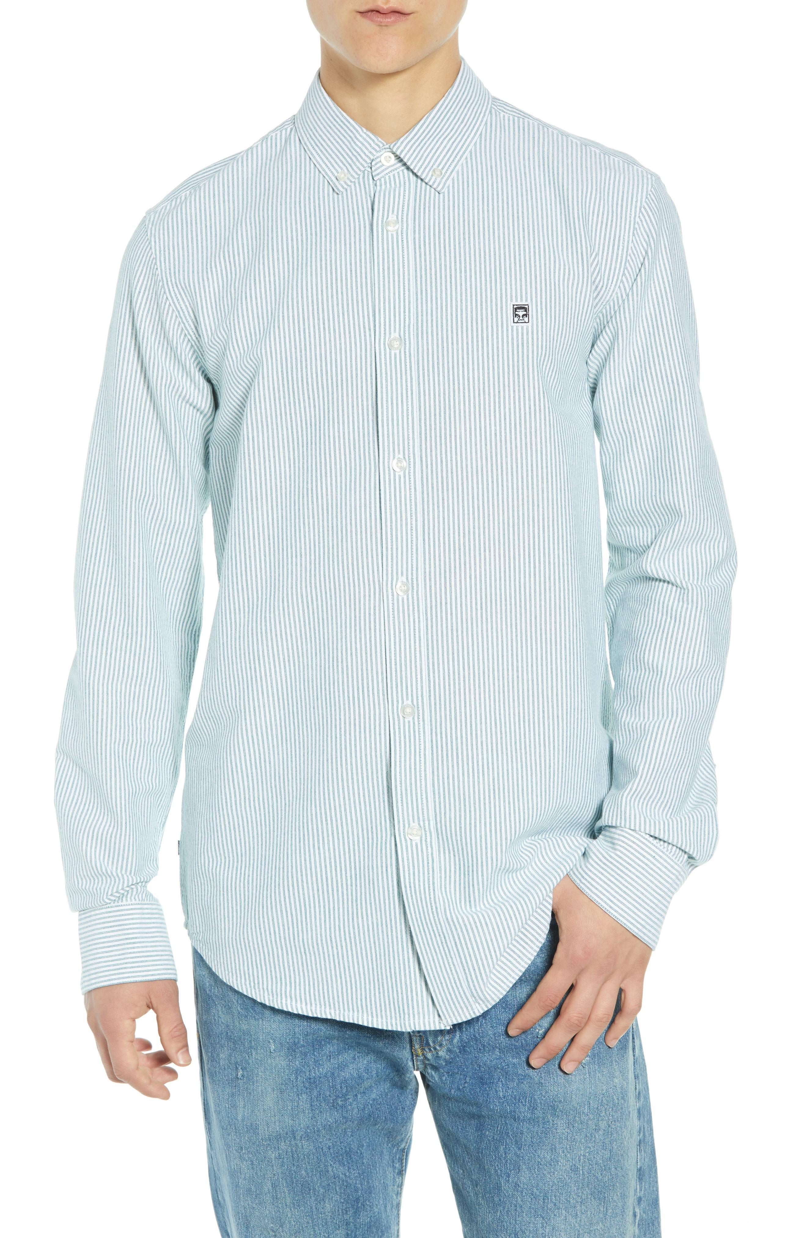 Obey Eighty Nine Pinstripe Sport Shirt