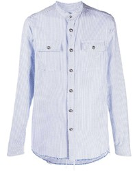 Balmain Frayed Edge Striped Shirt