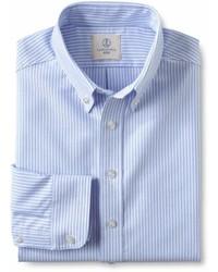 Lands' End Landsend School Uniform Boys Long Sleeve Stripe Oxford Shirt