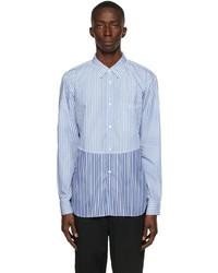 Comme des Garcons Homme Deux Paneled Striped Shirt