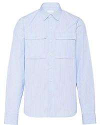 Prada Pocketed Striped Shirt