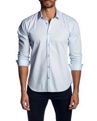 Jared Lang Regular Fit Stripe Sport Shirt