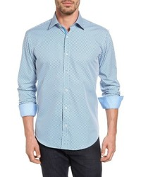 Shaped fit graphic sport shirt medium 806505