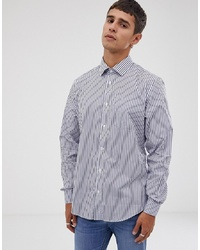 Esprit Slim Fit Shirt In Blue Stripe