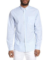 Slim fit stripe sport shirt medium 3720178