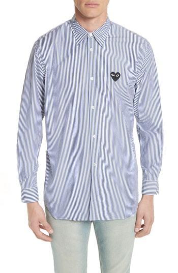 Comme Des Garcons Play Stripe Woven Shirt