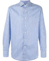 Canali Striped Long Sleeve Shirt