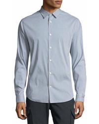 Vince Striped Long Sleeve Sport Shirt