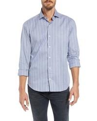 Culturata Tailored Fit Stripe Sport Shirt