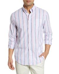 johnnie-O Toro Classic Fit Stripe Sport Shirt