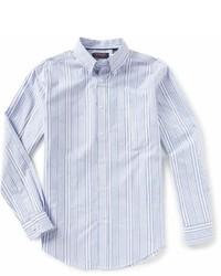 Roundtree & Yorke Trademark Long Sleeve Striped Sportshirt
