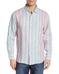 Tommy Bahama Vairo Stripe Linen Sport Shirt