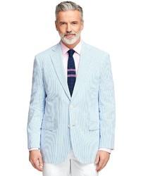 Brooks brothers madison fit seersucker sport coat medium 282348