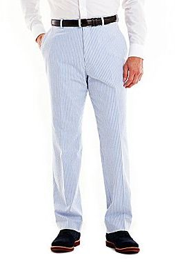 19c0a06556e19 ... Dress Pants jcpenney Stafford Blue Seersucker Cotton Pants ...