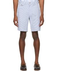 Polo Ralph Lauren Blue White Seersucker Classic Chino Shorts