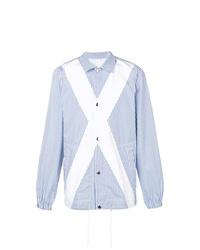 Comme Des Garcons SHIRT Comme Des Garons Shirt Panelled Striped Shirt Jacket
