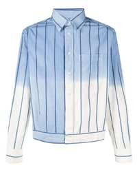 Lanvin Ombr Effect Striped Shirt