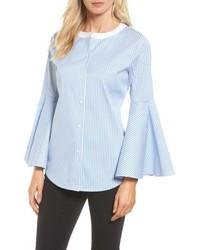 Vince Camuto Bell Sleeve Stripe Poplin Shirt