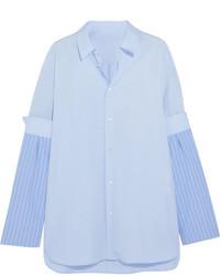 Maison Margiela Cotton Shirt Blue