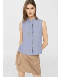 Mango Striped Cotton Shirt