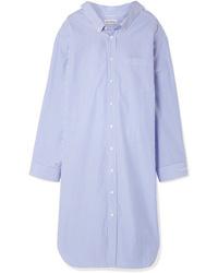 Balenciaga Oversized Striped Cotton Poplin Dress