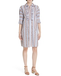 Tory Burch Ruffle Cotton Shirtdress