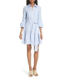 Derek Lam 10 Crosby Star Embroidered Pinstripe Shirtdress