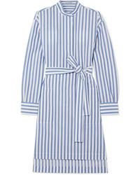 Acne Studios Striped Cotton Poplin Dress