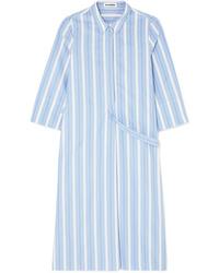 Jil Sander Striped Cotton Poplin Dress