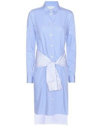 Maison Margiela Striped Cotton Shirt Dress