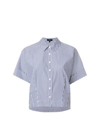 Theory Striped Short Sleeve Shirt