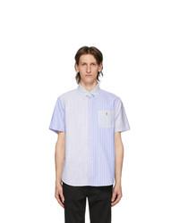 Polo Ralph Lauren Blue And White Striped Fun Short Sleeve Shirt