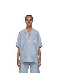 Gucci Blue Kitten Short Sleeve Shirt