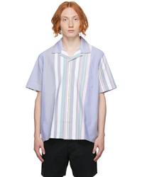Polo Ralph Lauren Blue Striped Oxford Short Sleeve Shirt
