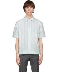 Brioni Blue White Striped Shirt