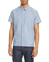 A.P.C. Bruce Pinstripe Short Sleeve Button Up Shirt