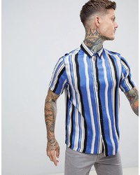 ASOS DESIGN Regular Fit Stripe Shirt